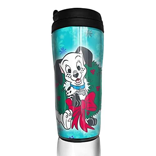Dibujos animados 101 Dálmatas Se-ries taza de café hombres mujeres aislamiento agua taza viaje oficina trabajo al aire libre novedad regalo cumpleaños 12 oz capacidad
