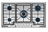 Empava 36' Stainless Steel 5 Italy Sabaf Burners Stove Top Gas Cooktop EMPV-36GC881