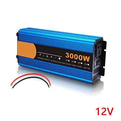 Wechselrichter 3000W / 4500W / 6000W / 8000W DC 12V Zu AC 240V Konverter, Zwei Wechselstromsteckdosen Und USB-Schnittstelle, Geeignet Für Familien-LKW-Auto-Wechselrichter Mit Reinem Sinus