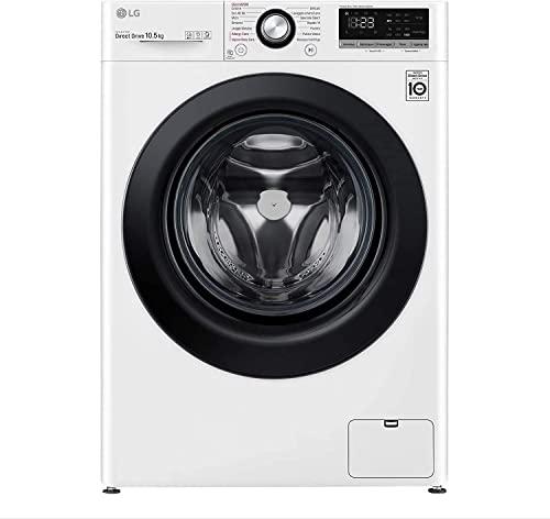 LG F4WV310S6E Machine à laver avec intelligence artificielle, charge frontale, capacité 10,5 kg, fonction vapeur, 1400 tours, 60 x 56 x 85 cm