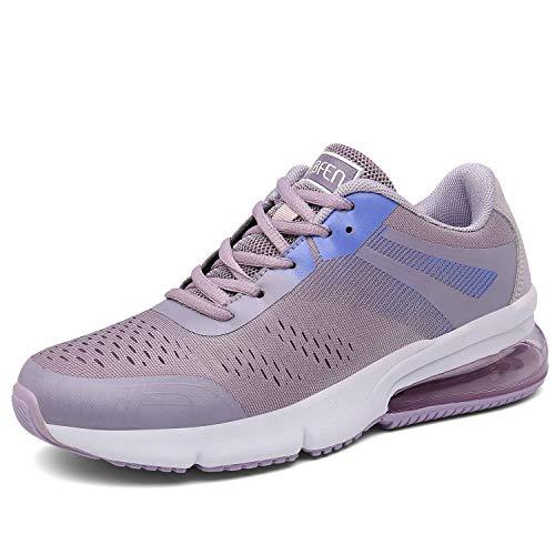 SOLLOMENSI Damen Herren Sportschuhe Laufschuhe Retwin Turnschuhe Straßenlaufschuhe mit Snake Optik Sneaker 36 EU C Pink