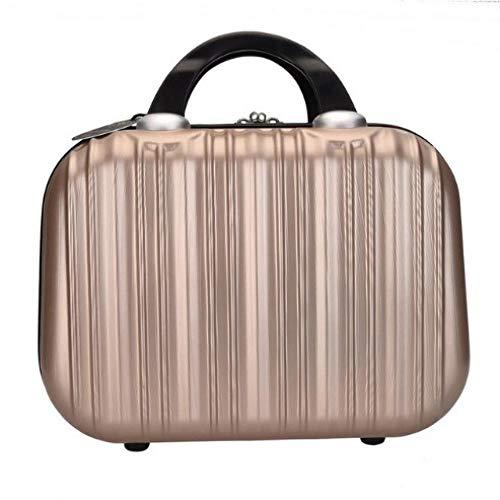 Sac à cosmétiques Sac à Main cosmétique étui de Maquillage boîte à Bijoux verrouillable pour Ladys gift31 * 15 * 22cm-Golden_31 * 15 * 22cm