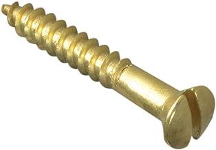 FORFPRH1128B houtschroef met sleuf, lenskop, ST, massief messing, 3,8 x 20,3 cm