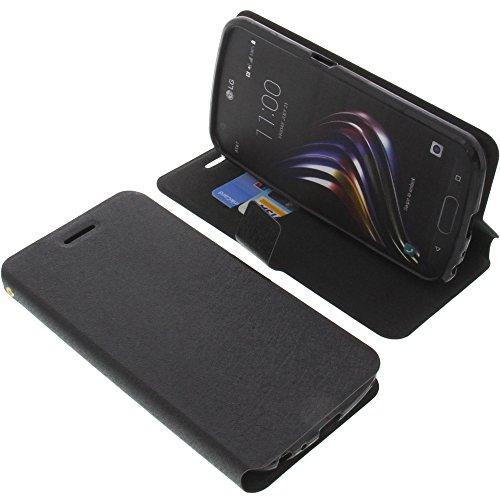 foto-kontor Tasche für LG X Venture Book Style schwarz Schutz Hülle Buch