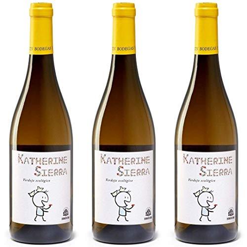 Katherine Sierra Vino Blanco Ecólogico - 3 botellas x 750ml - total: 2250 ml