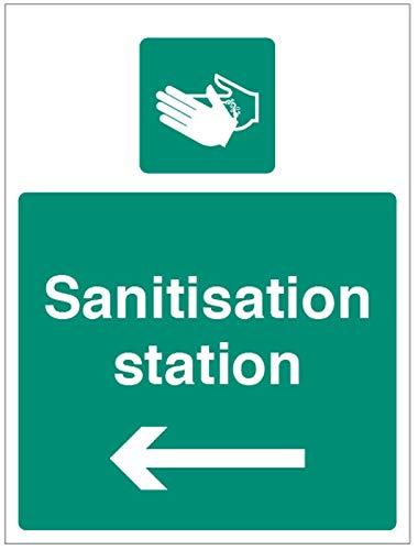 Desinfektions-Station (Pfeil links)