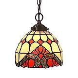 Candelabros de vidrieras 7 pulgadas lámpara barroca arte de cristal de la lámpara creativa balcón decoración colgante de Tiffany