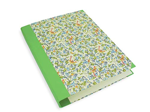 libralides Ring-Ordner, schmaler Motivordner für DIN A4 Papier, Ringbuch mit 2er Mechanik 2,5 cm, hell grün Florentiner Vögel mit Goldprägung, perfekt zur Aufbewahrung von losen Blättern