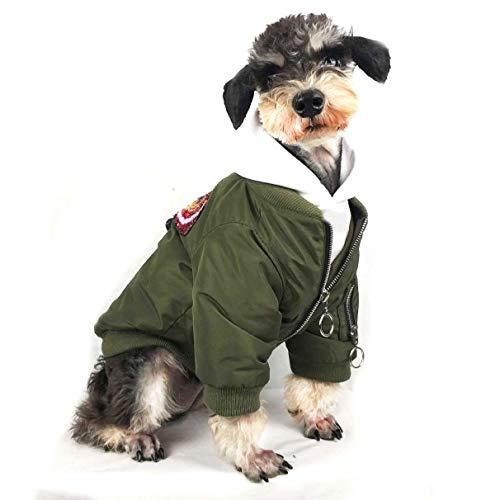 Schwere Mantel Bomberjacke Für Hund, Dicke Baumwolle Baseballuniform Freizeit Warme Windundurchlässige Oberbekleidung Mit Langen Ärmeln,...