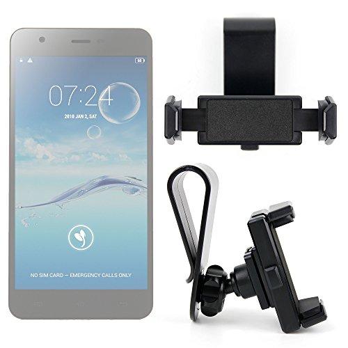 DURAGADGET Exclusivo Montura/Soporte de Parasol de Coche para Smartphones Smarphone Jiayu S3s Plus / Just5 Blaster 2 / Ulefone Be Touch