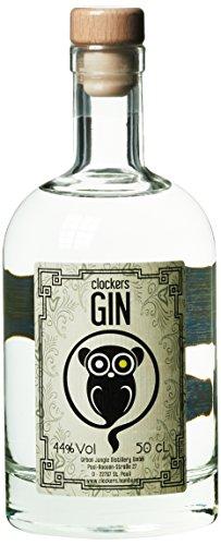 CLOCKERS GIN - Dry Gin aus Hamburg mit Wacholder- und Zitrusnote - mit 12 Botanicals - 8 Wochen gereift - Glasflakon mit Korken 50cl, 44% Vol.