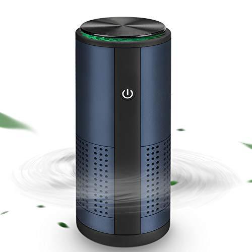 Purificatore d'Aria per Auto, Welltop Mini Depuratore d'Aria Generatore di Ozono Due modalità Anione+Ozono Sterilizzatore per Deodorazione per Frigorifero/Viaggio/Ufficio Carica USB a Ultra Silenzioso