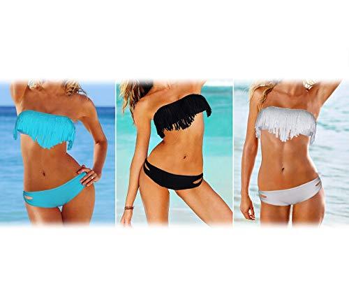Bikini, bikini, met franjes, verschillende kleuren en maten mws457