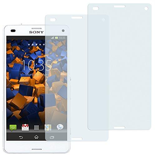 mumbi Schutzfolie kompatibel mit Sony Xperia Z3 Compact Folie klar, Displayschutzfolie (2X)