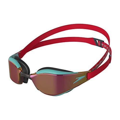 Speedo Fastskin Hyper Elite de Espejo Gafas de natación, Unisex-Adult, Fed Red/Tile Blue/Violet Gold, Einheitsgröße
