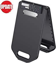 Calculator Plastic Storage Clipboard with Handle, Compartment Hold 200 Letter Sized Paper Enclosed Heavy Duty Sturdier Smooth Writing Portable Paperwork Office Classorm Supply for Coache, Contractor