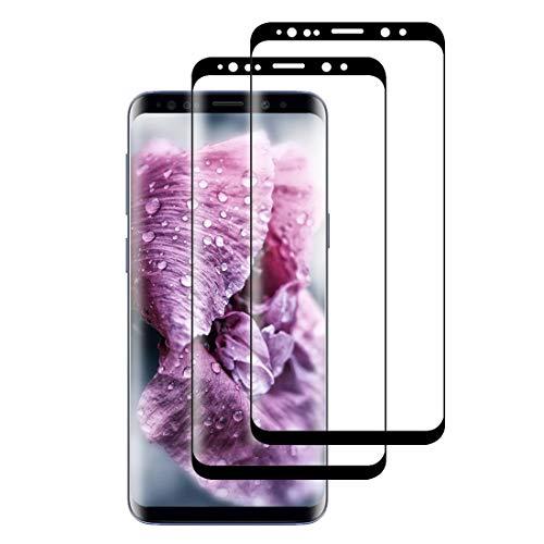XSWO [2 Pezzi Vetro Temperato Galaxy S8, Protezione Schermo Samsung Galaxy S8 [3D Curvo Copertura Completa] [Alta Sensibilità] [Durezza 9H] [Senza Bolle] [Anti-Impronta] Pellicola Protettiva