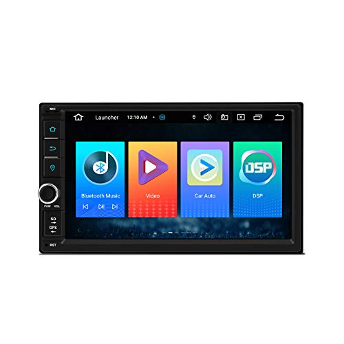 XTRONS Android 10 Car Stereo Double Din GPS Navigation 7 Inch Touch Screen Car Radio Bluetooth Head Unit Support Split Screen/Android Auto/Built-in Wireless CarAutoPlay/DSP, Backup Camera DVR OBD2