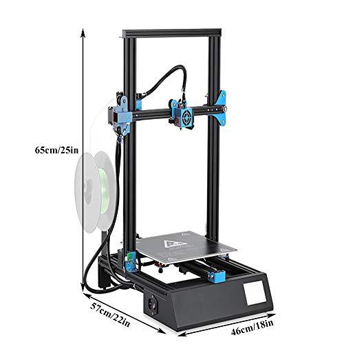 JWC Stampante 3D, Quasi Industriale ad Alta precisione Livellamento Intelligente Installazione Rapida Corpo in Metallo Ugello in Ottone Touch Screen a Colori, per modellismo Interno Fai-da-Te