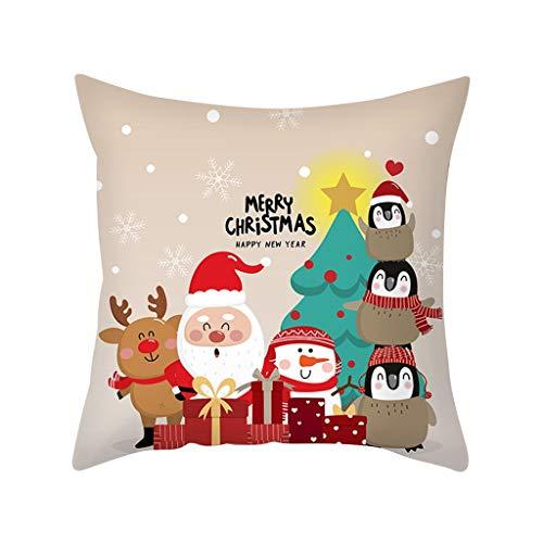Estilo Nórdico Fundas Navideñas para Cojines Fundas De Cojines de Navidad Throw Pillowcase Pillow Covers Santa...