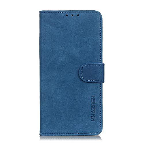Brieftasche Schutzhülle für Motorola Moto G 5G Plus Hülle mit Kartenfach Etui Standfunktion & Magnetisch Handyhülle Leder Flip Lederhülle für Motorola Moto G 5G Plus (Blau)