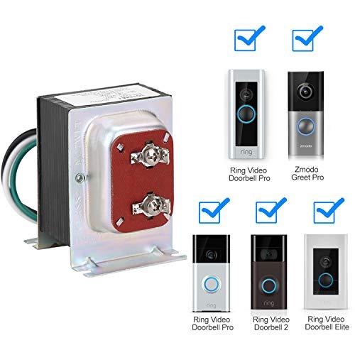 FCHO Doorbell Transformer, 16V 30VA Hardwired Door Chime Transformer...