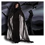 GDYJP Disfraces de Halloween para Mujeres Cosplay Vampire Horror Novia (Color : Black, Tamaño : M)