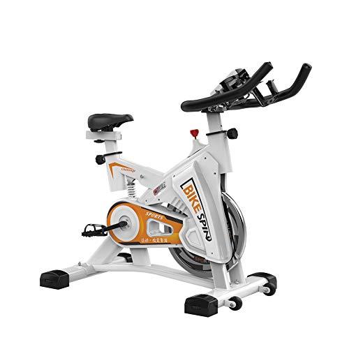 KuaiKeSport Heimtrainer Fahrrad für Zuhause,Indoor Cycle Komfortsattel Elektromagnetisch Spinning Fahrrad Mit LCD Bildschirm,Ergometer Fahrrad Verstellbarer Lenker Widerstand,White