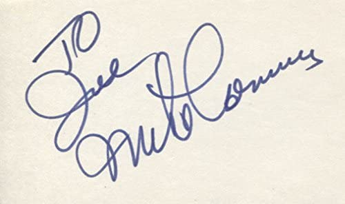 Mike Connors - Inscribed Very popular! Award-winning store Signature