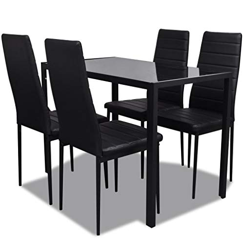 Juego de mesa de comedor, mesa de comedor, mesa de comedor, juego de mesa de comedor, mesa de comedor, mesa de cocina y sillas para 4 mesas con sillas, muebles para el hogar, rectangular, moderno