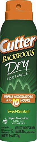 Cutter Backwoods Dry 25-Percent DEET Aerosol Spray, 4-Ounce (3 Pack) by Cutter
