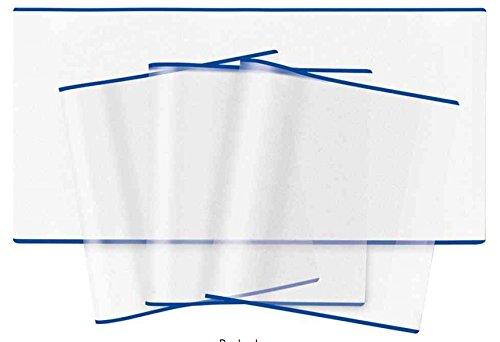 Herma Buchschoner Buchumschlag 300 x 540 mm, 5 Stück, transparent (Blauer Rand)