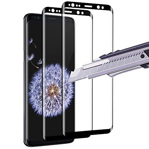 wsky 2 Stück Panzerglas für Samsung Galaxy S9, 3D Vollständige Abdeckung, Ultra-HD Panzerglasfolie, Blasenfrei Schutzfolie für Samsung S9