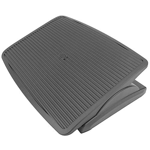 PrimeMatik - Reposapiés con Plataforma Ajustable de plástico Negro 450 x 350 mm