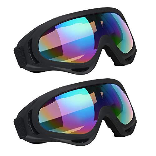 Vicloon Gafas de Nieve a Prueba de Viento UV400 Ciclismo Moto Snowmobile Ski Goggles Eyewear Deportes Gafas de Seguridad de Protección 2pcs