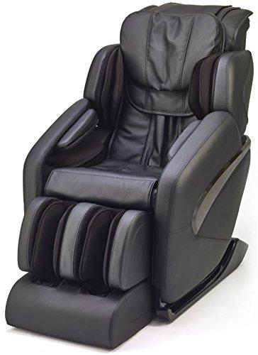 Jin - Deluxe L-Track Massage Chair w/Zero Gravity (Black)