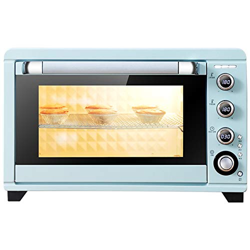 Toaster oven QYJH- Four Grille-Pain de comptoir 45L - Contrôle indépendant de la température des Tubes supérieur et inférieur - 24 Biscuits - 3 gâteaux de Six Pouces - air Chaud et Fourche - 2000W