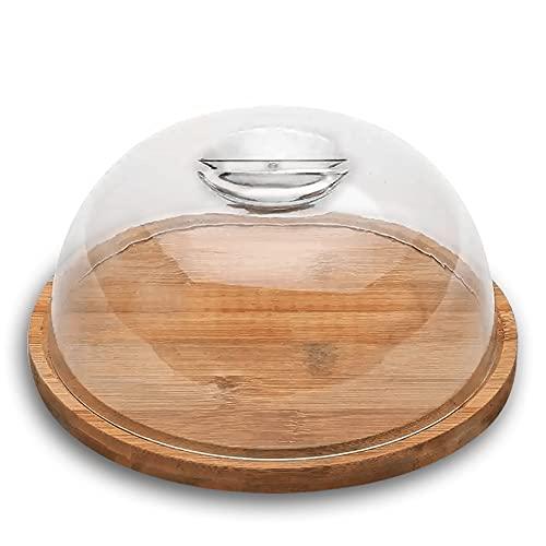 Porta queijo bambu c/tampa Ecokitchen 19x7,5cm Mimo Style