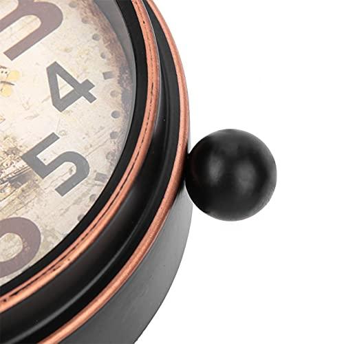 Jiawu Reloj de Arte de Hierro, Reloj de Escritorio, Oficina sostenible para decoración del hogar, Sala de Estar, Dormitorio