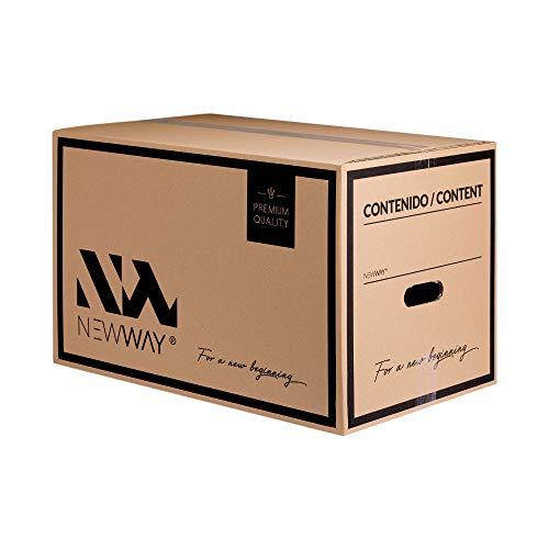 15 cajas de cartón doble capa 550x350x350 mm para mudanza y almacenaje con asas altamente resistentes fabricadas en España con cartón ecológico