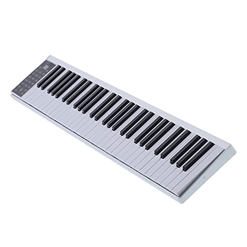 Piano Digital, Piano Electrónico Pantalla LED de Tubo Digital Piano Digital Inteligente Batería de Llitio Recargable Incorporada Piano Digital Electrónico para Principiantes Niños