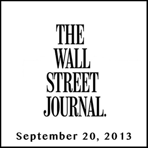 The Morning Read from The Wall Street Journal, September 20, 2013 copertina
