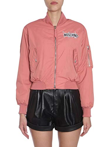 Moschino Luxury Fashion Damen V052555151137 Rosa Polyester Jacke | Jahreszeit Outlet