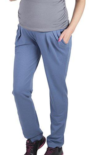Mija - Komfortabel Umstandshose mit Bauchband Schwangerschaftssporthose 1038 (XS, Jeans)