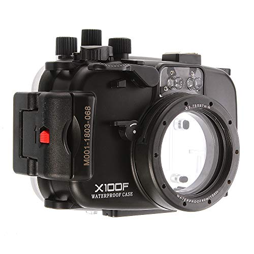 130FT Waterproof Underwater Diving Housing Case for Fujifilm Fuji X100F Camera