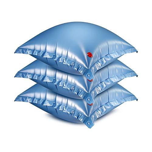 Luftkissen für Winterabdeckplanen 3er Set Pool Luftpolster Kissen Winterplane Abdeckplane Plane Eisdruckpolster Winterschutz