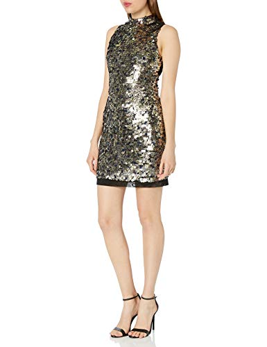 French Connection Moon Rock Sparkle-Vestido Mujer Verde Green (Moon Rock) 42