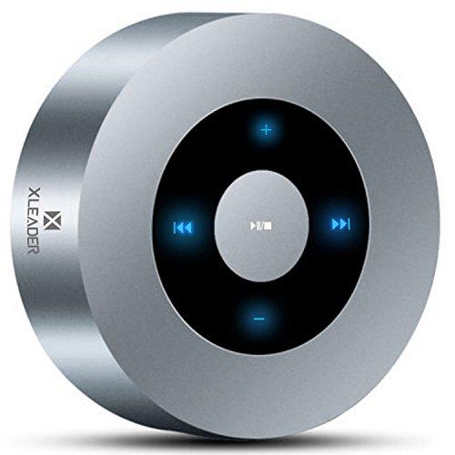 [Diseño LED Tacto] Altavoz Bluetooth, XLEADER Altavoces Bluetooth Portátiles con Sonido HD/12 Horas de reproducción/Soporte Micro SD,para iPhone,Teléfono Inteligente,iPad,Tableta,Laptop,Echo Dot,Plata