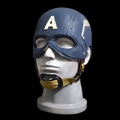 XDHN Capitán América 1, 1 Máscara De Casco Capitán América, Guerra Civil, Marvel Avengers Cos-Masks-Halloween Casco Props Deluxe Edition Ajustable, Capitán América-53~60Cm, Capitán América, 53