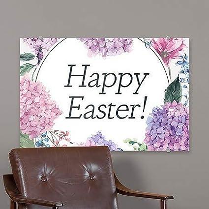 CGSignLab Easter Floral Premium Brushed Aluminum Sign 36x24